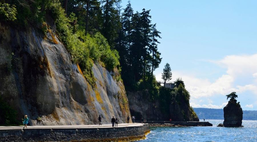 The Seawall trail - Stanley Park, Vancouver