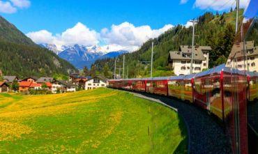A casa di Heidi nelle montagne Svizzere con il Trenino Rosso del Bernina