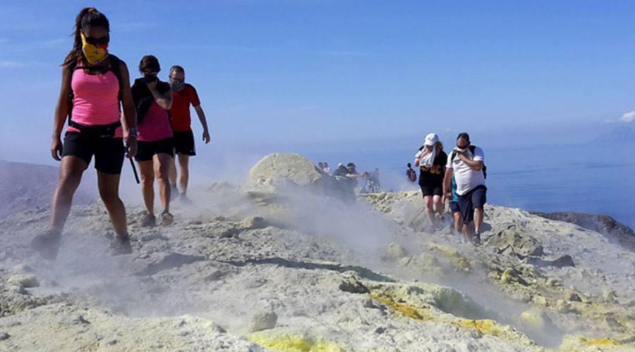 Salita al cratere, Vulcano