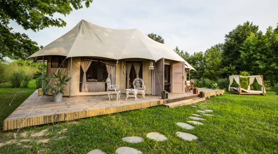 Luxory tent Bamboo esterno