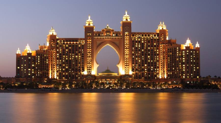 Atlantis The Palm di notte
