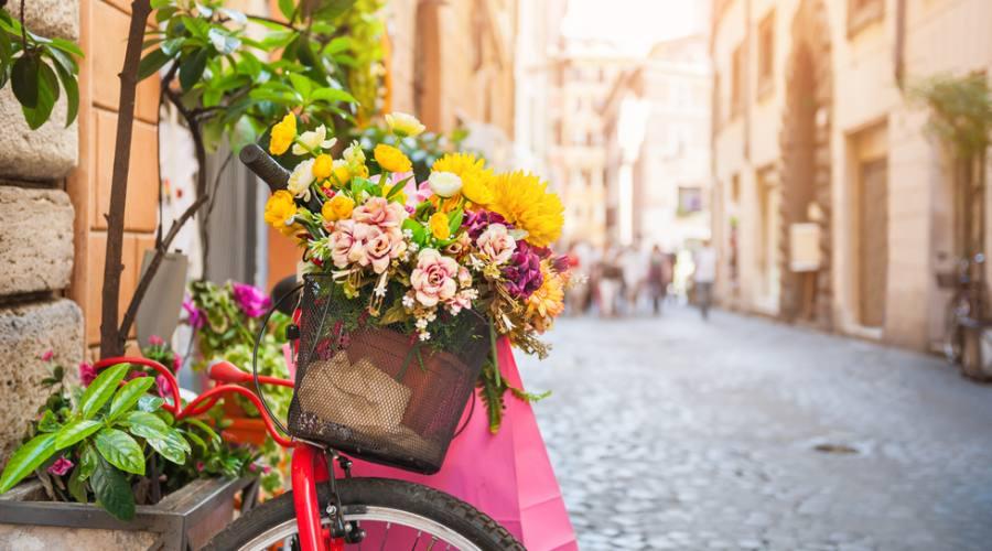 Bici in fiore