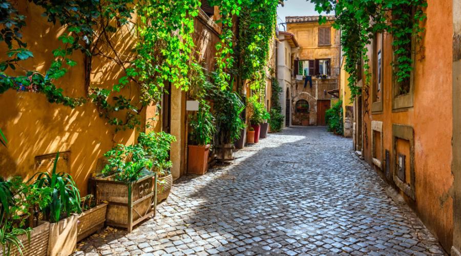 Vecchia strada sul Trastevere