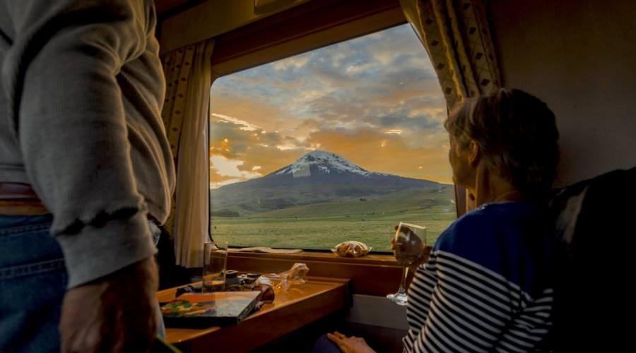 Vista sul vulcano Chimborazo