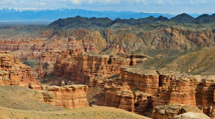 Charyn Canyon vicino Almaty in Kazakhstan