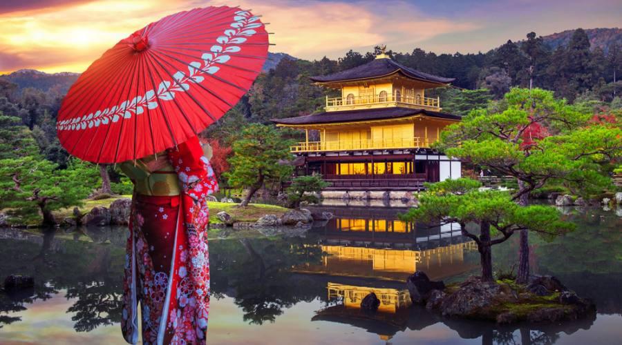 Geisha - Tempio Kikankuji di Kyoto