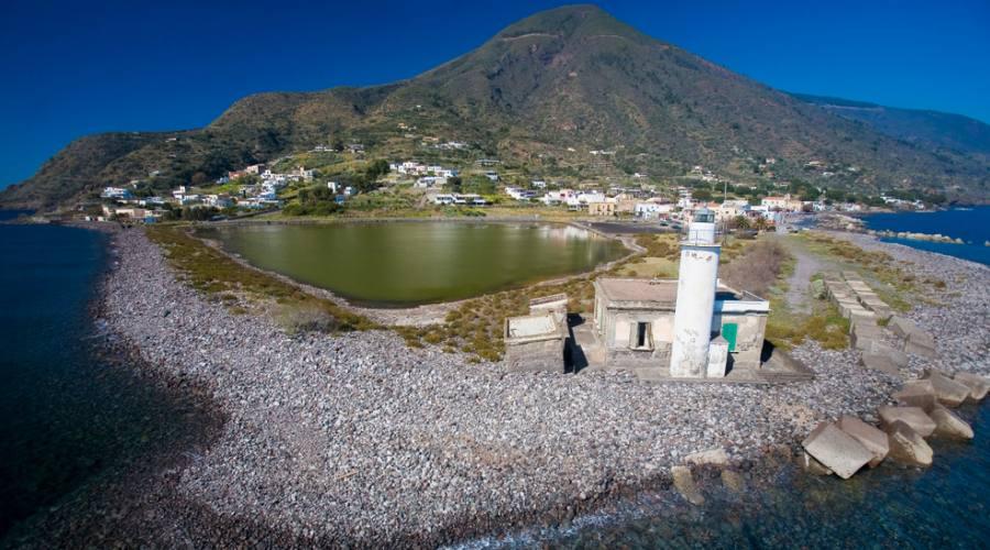 Vista aerea Isola di Salina