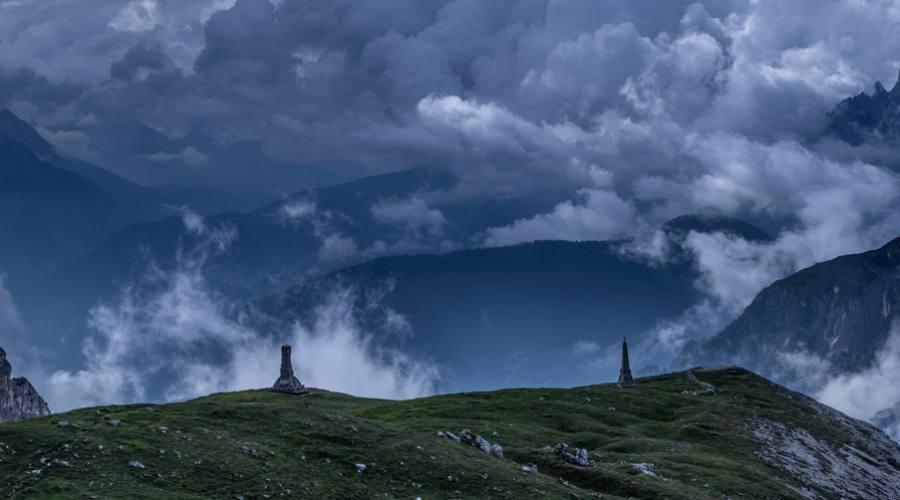 Nuvole sulle Tre Cime di Lavaredo