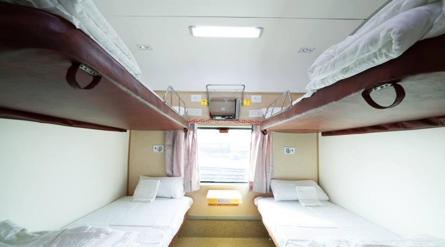 Treno Majestic Rajasthan - seconda classe