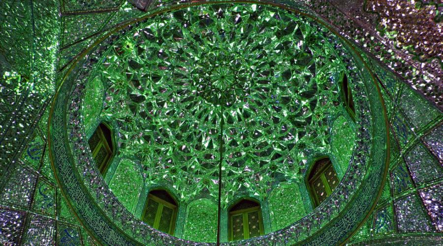 Shiraz -particolare del Mausoleo di Shah-e Cheragh