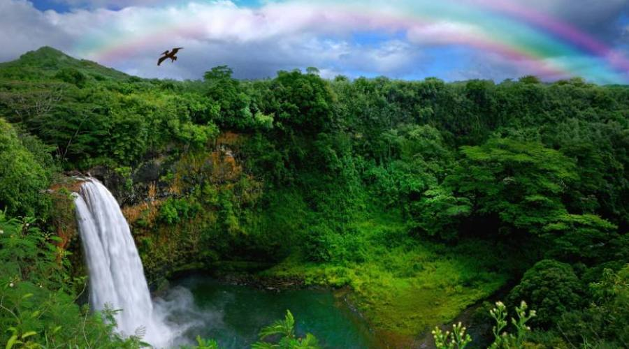 Kauai Rainbow Falls
