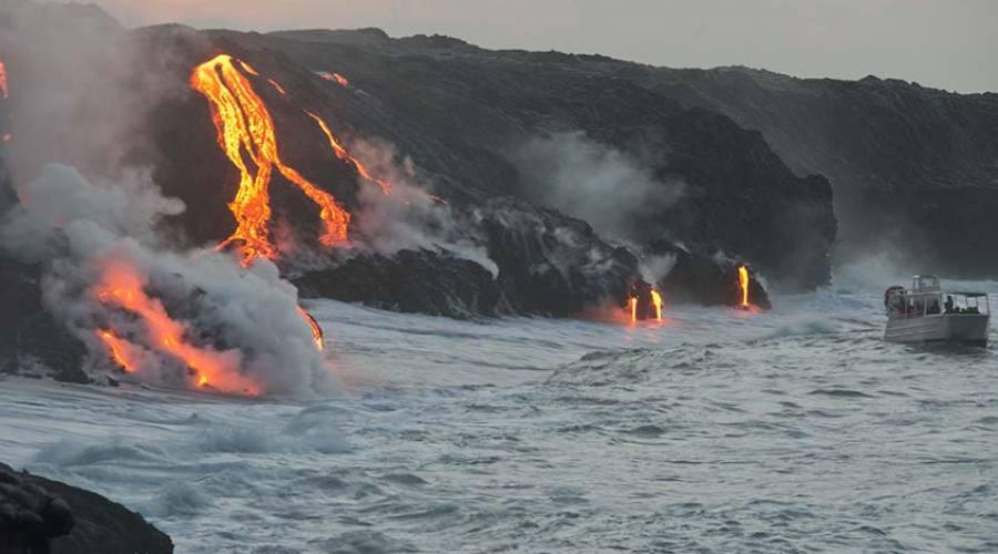Big Island boat lava tour