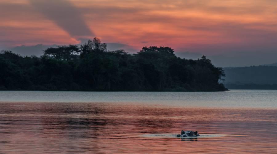 Tramonto sul Lago Mburo