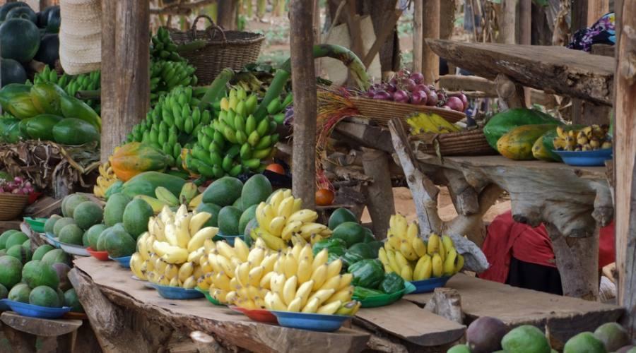 Mercato di un villaggio