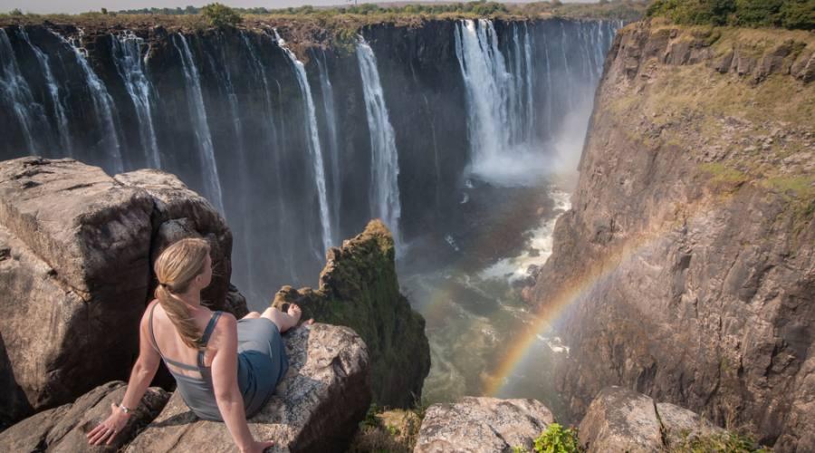 Vista sulle Victoria Falls