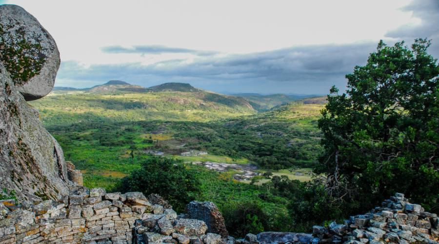 Paesaggio collinare in Zimbawe