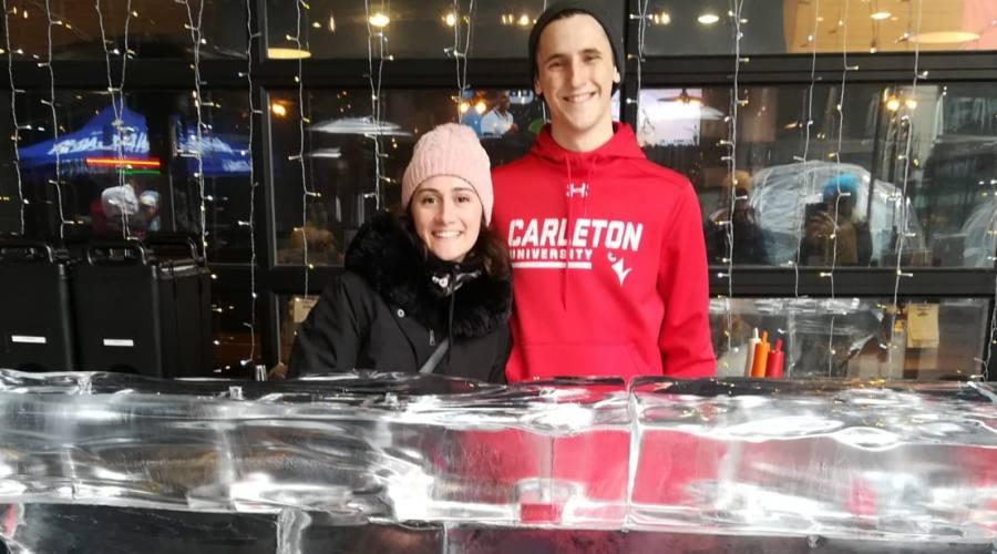 Bancone ghiacciato in Niagara park