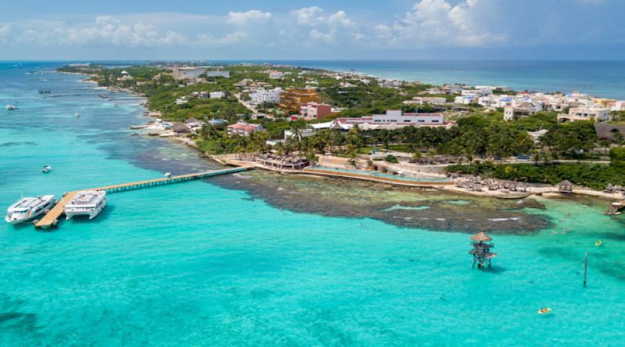 Isola di Mujeres veduta aerea