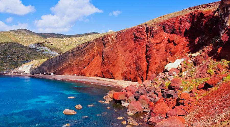 Santorini - spiaggia rossa