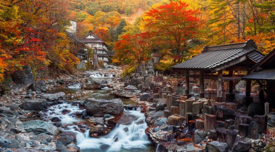 Un tipico Onsen giapponese