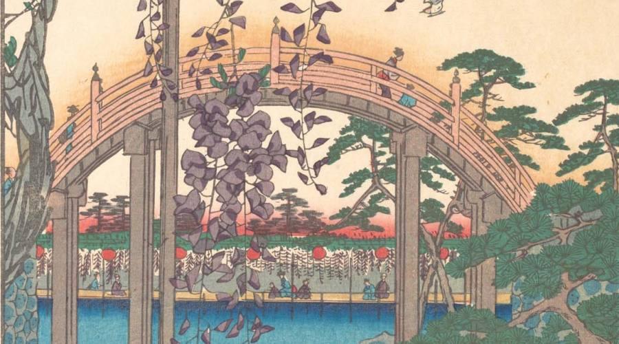 Hiroshige: Inside Kameido Tenjin Shrine