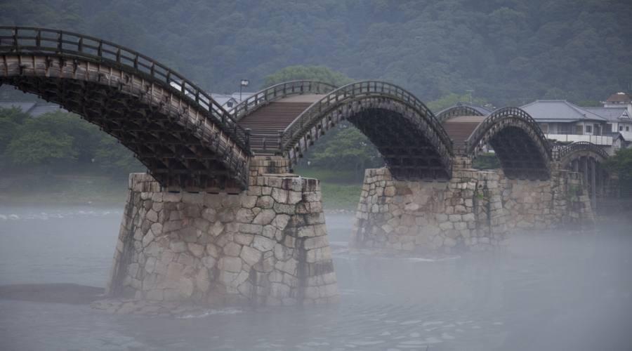 Il famoso ponte Kintai-kyo