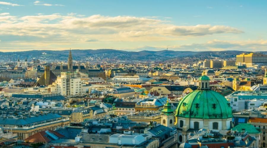 Veduta aerea di Vienna