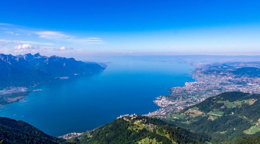 Vista spettacolare sul lago Lemano
