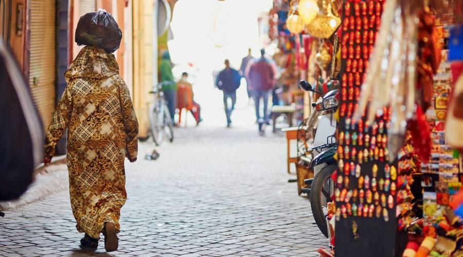 Marrakech - donna al mercato