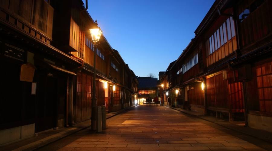 Il quartiere Higashi Chayagai di Kanazawa