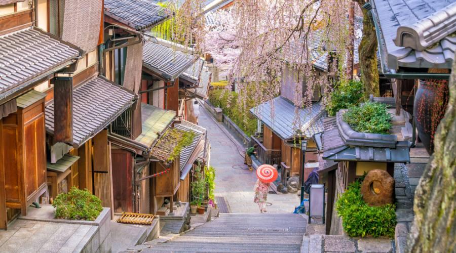 Il distretto Higashiyama a Kyoto