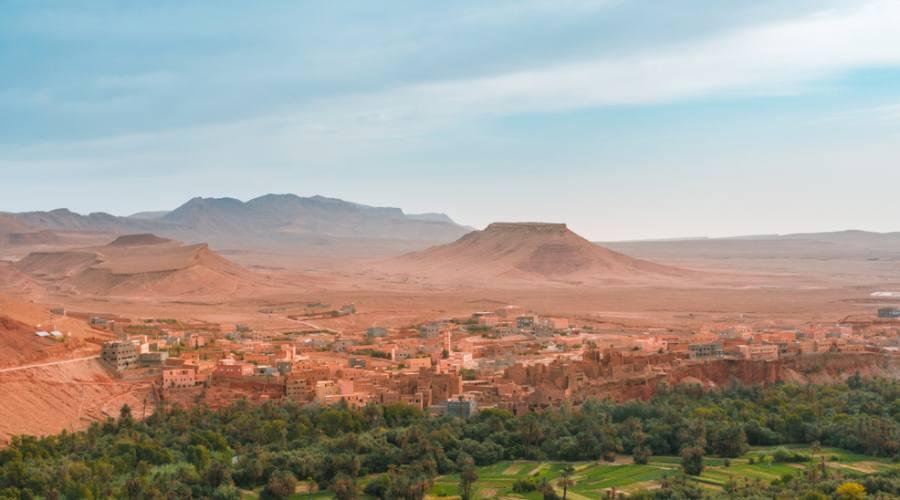 Oasi nel deserto del Sahara in Marocco