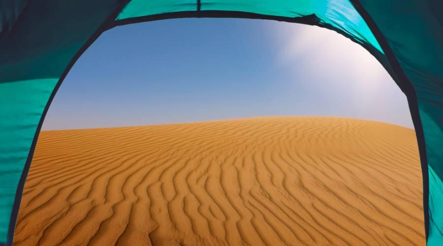 la vista da una tenda