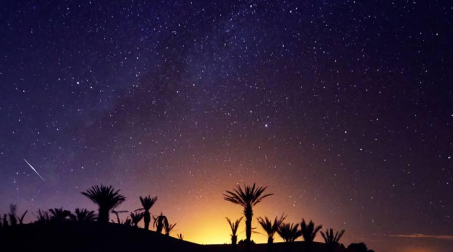 Sotto le stelle nel deserto