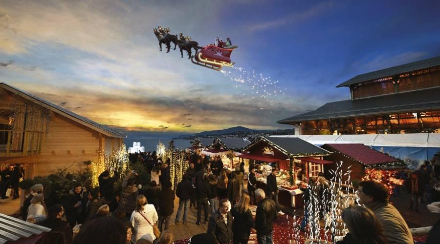 La slitta volante di Babbo Natale - Montreux Natale copyright