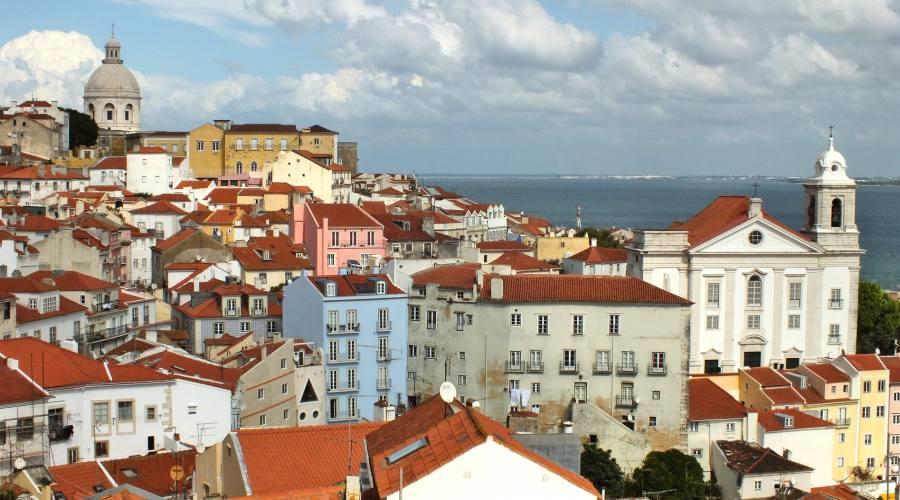 Lisbona, veduta della città