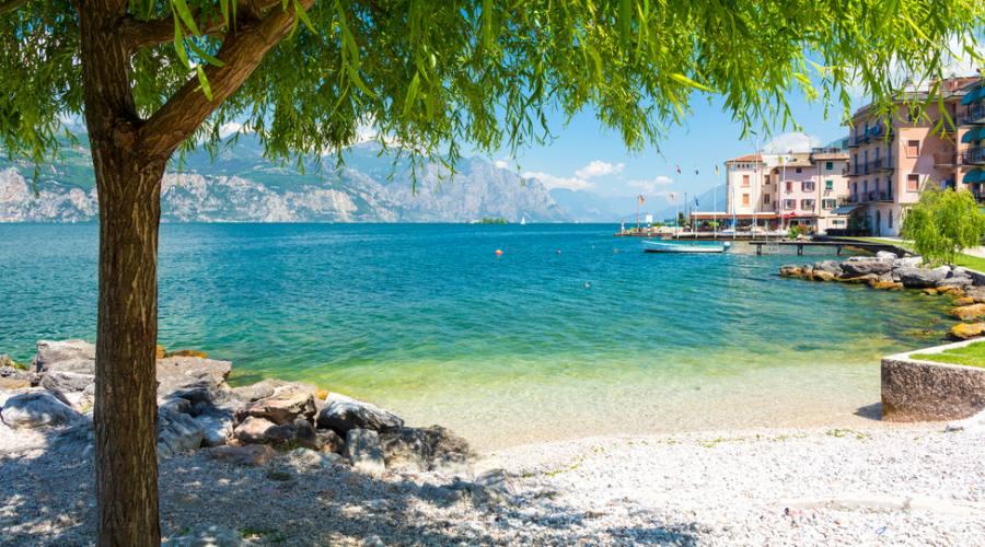 Spiaggia lago di Garda