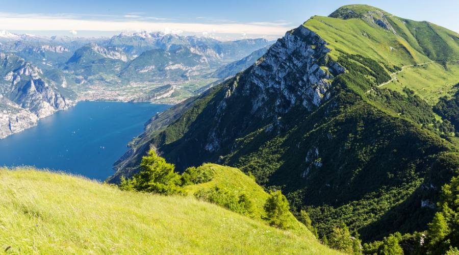 Veduta del lago di Garda dal Monte Baldo