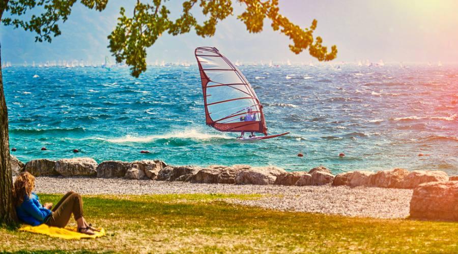 Wind surf sul lago di Garda