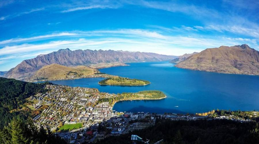 Vista di Queenstown