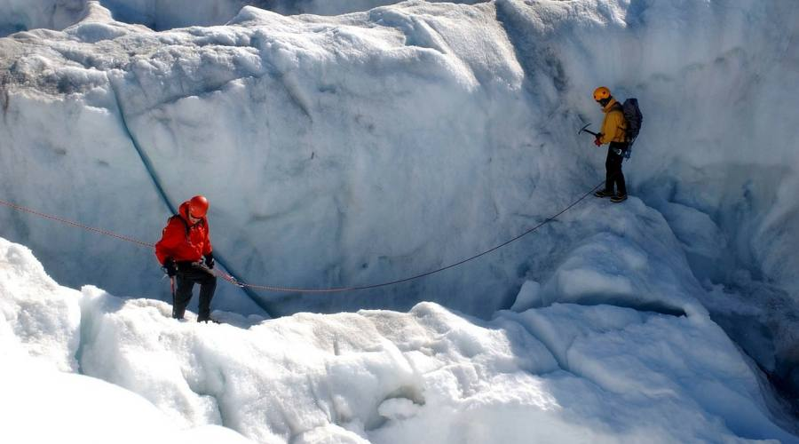 Camminata sul ghiacciaio