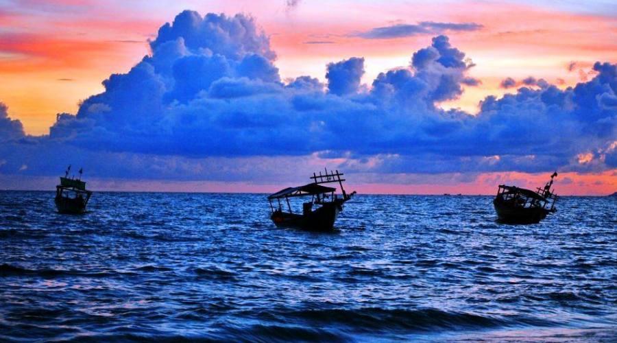 Imbarcazioni al tramonto