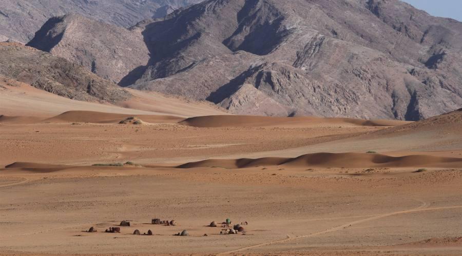 himba village in hartmann valley