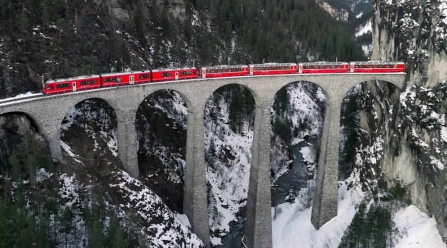 Trenino Rosso del Bernina - Viadotto Landwasser