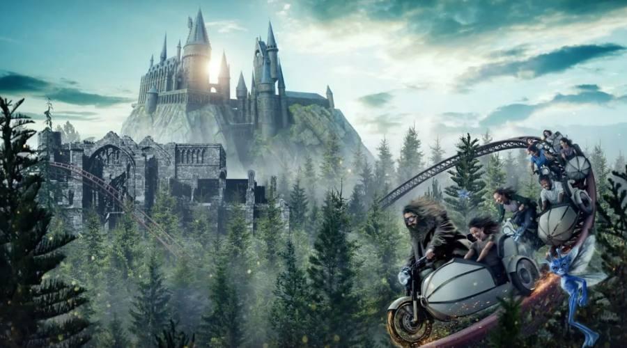 Sali sulla moto di Hagrid