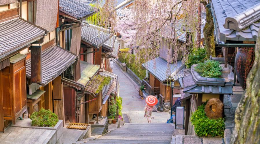 Il distretto di Higashiyama a Kyoto