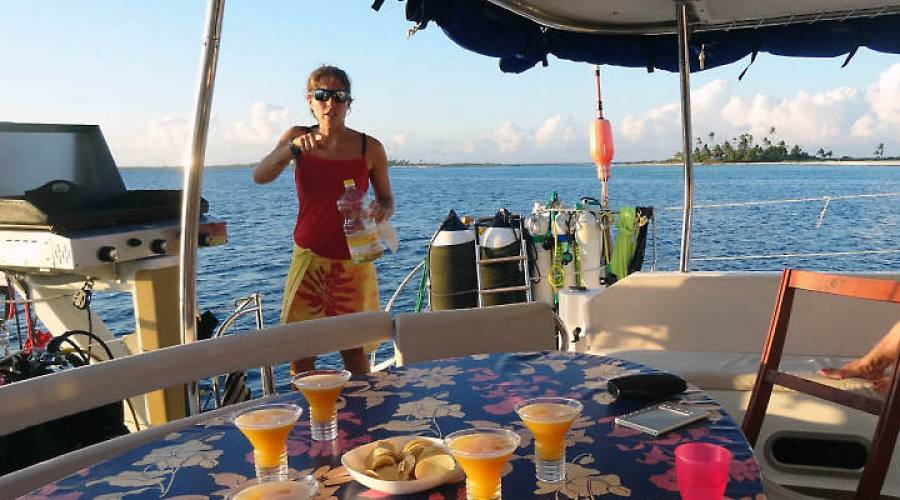 Cocktails sul catamarano