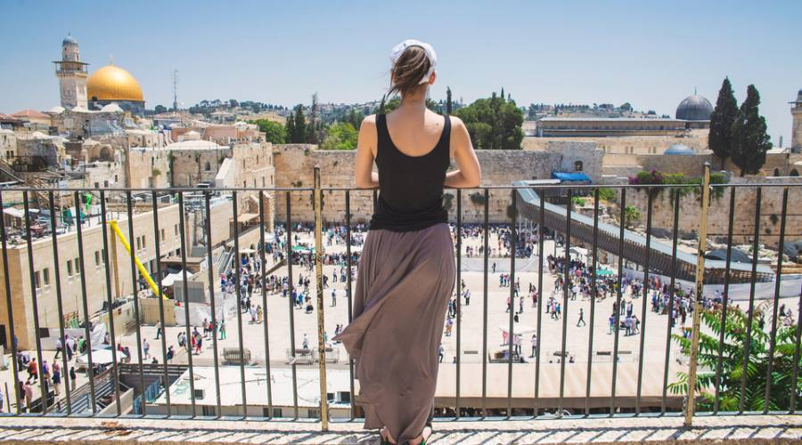Gerusalemme Panorama del Muro del Pianto