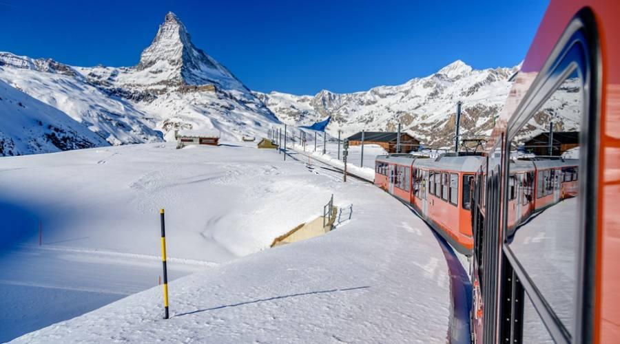 in treno a Zermatt
