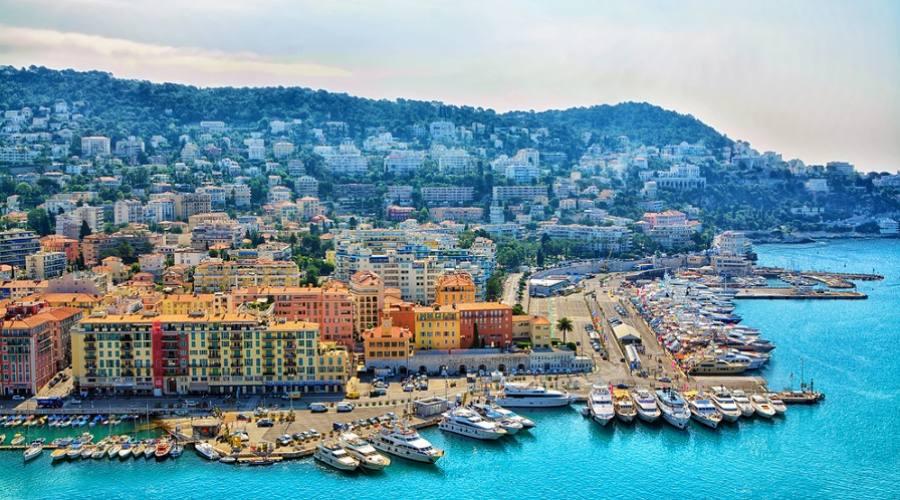 vista panoramica Nizza, Francia